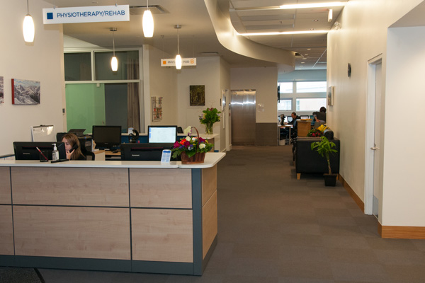 Rebalance clinic physiotherapy reception desk