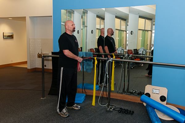 Man in physiotherapy session