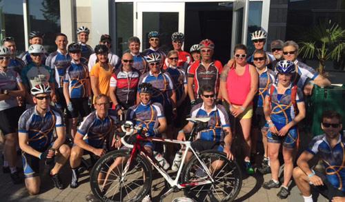 Rebalance staff bike ride