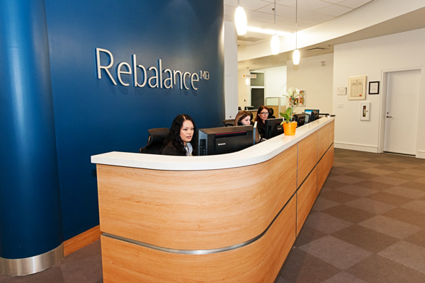 Rebalance clinic office reception desk