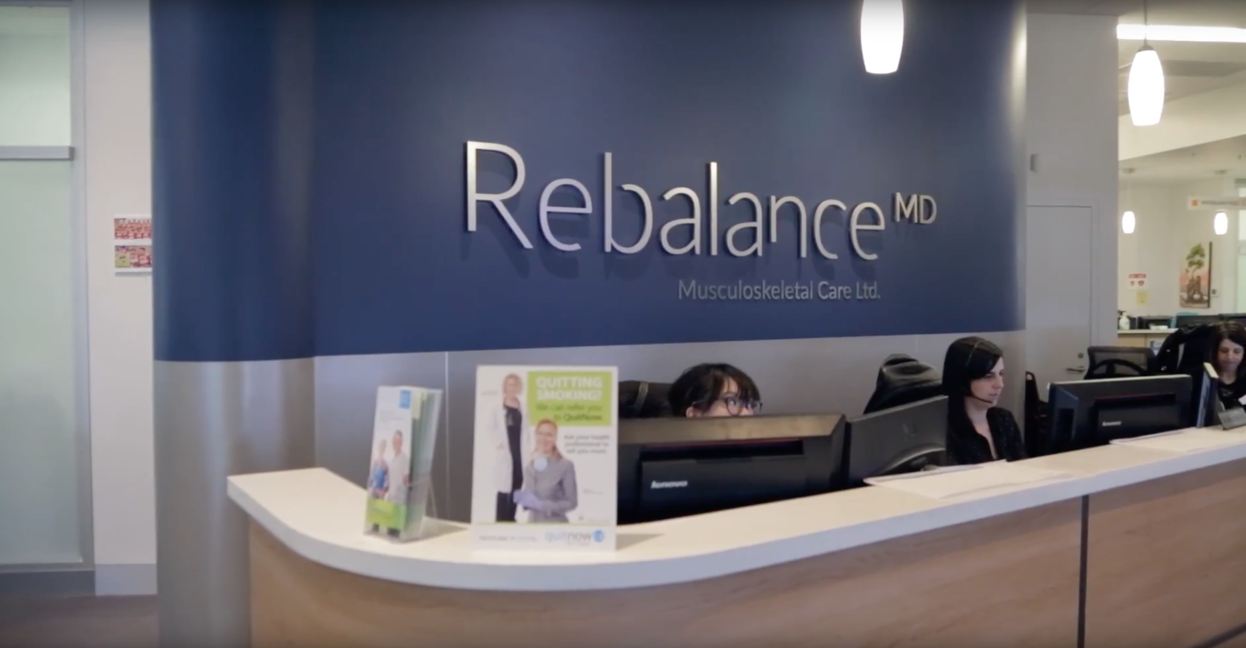 Rebalance office reception desk