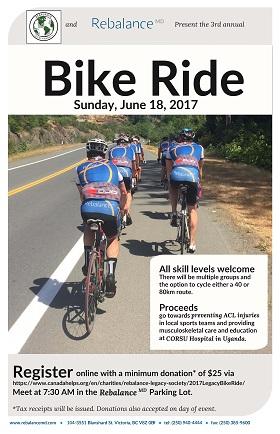Rebalance staff bike ride poster